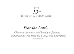 13th RULE OF A LADY