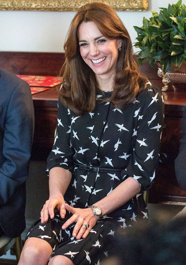 KATE MIDDLETON ISSA BIRD PRINT DRESS