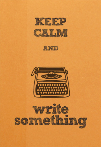 KEEP CALM WRITING