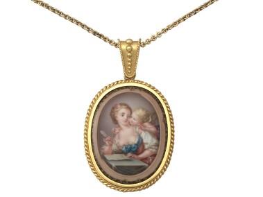 antique-victorian-18-ct-yellow-gold-miniature-portrait-pendant