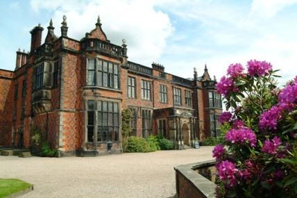 Arley Hall, exterior of house and driveway