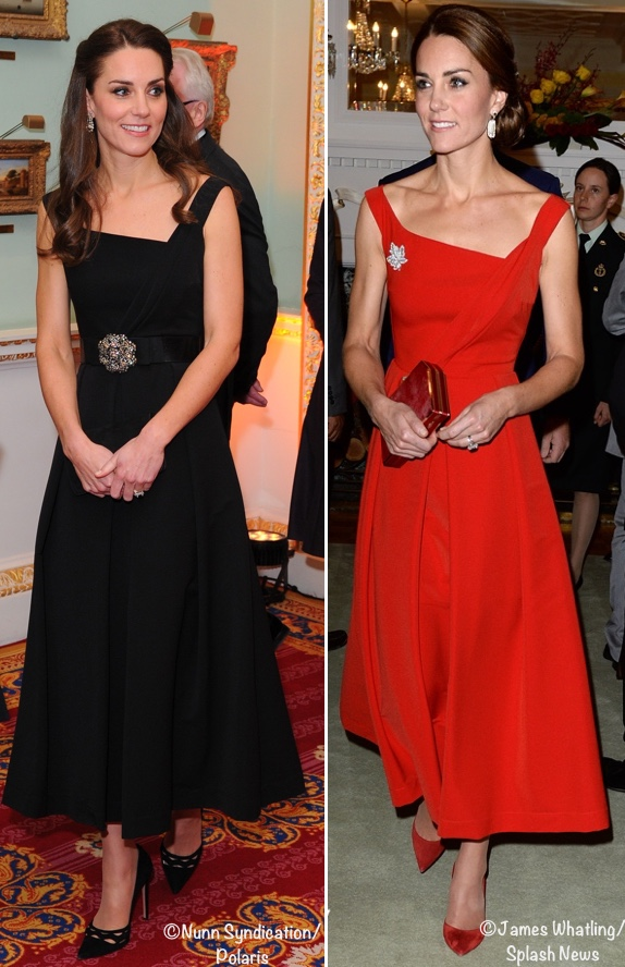 Kate-Wearing-Preen-Finella-DRess-in-Both-Black-and-REd-Polaris-Splash-Nov-22-2016-