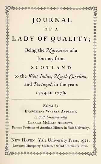 lady of quality manuscript title