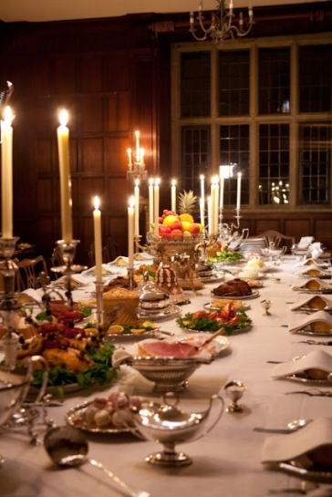 Feast by candle light
